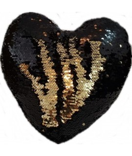 Perna Paiete Inima Negru / Auriu