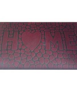 Covor intrare 3D HOME negru/rosu - 45x75 cm