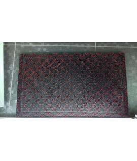 Covor intrare 3D rectangular negru/rosu - 45x75 cm
